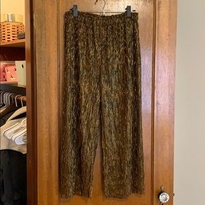 Urban Outfitters Wide Leg Copper Accordion Pants
